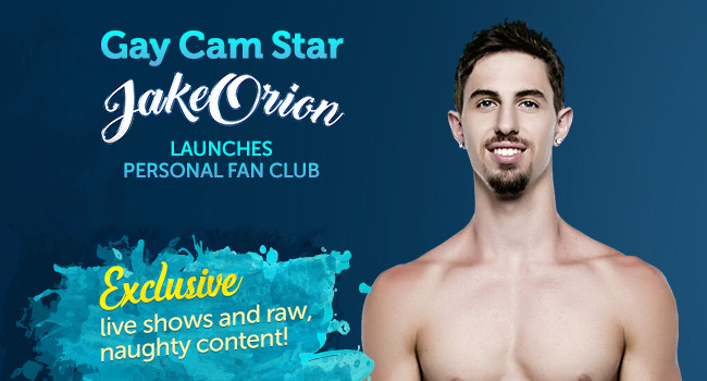 Popular male cam model Jake Orion has launched an official website at JakeOrionFanPage.com.