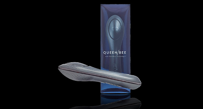 The patented design features two surfaces offering different experiences. One provides rumbly sensations directly to the clitoris, and the other produces a gentle massage.
