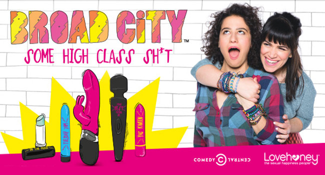 British pleasure products manufacturer Lovehoney has begun shipping the result of its latest brand partnership, this one with the producers of the U.S. hit comedy series Broad City.